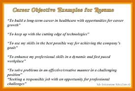 Effective Career Objective For Resumes Resume Career Objective Examples Resumes Career Objective Examples S