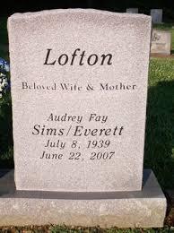 Audrey Fay Lofton Everett (1939-2007) - Find A Grave Memorial