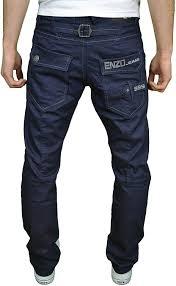 Amazon Designer Jeans Enzo Ez Mens Designer Regular Fit Straight Leg Denim Jeans