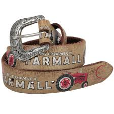 official case ih accessories ih farmall girls fl brown leather belt