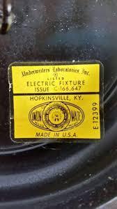 vintage underwriters laboratories hobnail milk glass chandelier rare and working 1798112682