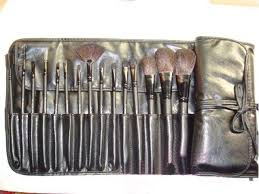 hot 15 pcs pieces makeup brushes sets leather pouch sle free fast 15