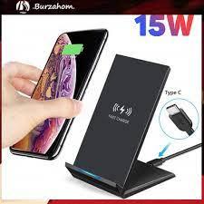 Đế Sạc Nhanh Không Dây 15w Qi Cho Iphone 11 Pro Max Kèm Phụ Kiện - Đế sạc  không dây