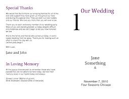 Wedding Program Thank You Wording For Parents Criolla Brithday