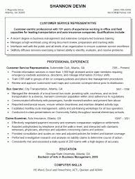 Customer Service Representative Resume Templates