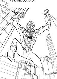 Kleurplaat Spiderman