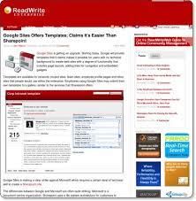 Google Site Templates Google Sites The Unquiet Librarian