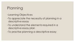 descriptive writing year ppt video online  descriptive writing year 11 2 planning learning objectives
