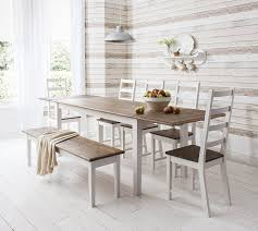table and 5 chairs and bench canterbury extending dining table with 2x extension co uk kitchen home
