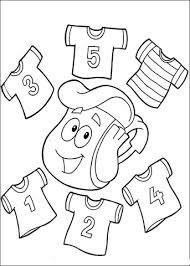 Disegno Di T Shirt Con I Numeri 12345 Da Colorare Disegni Da