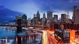 City New York Manhattan Winter ...