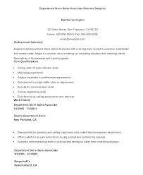 Retail Resumes Sales Associate Sample Resume For Sales Associate At Retail Sales Associate Resume