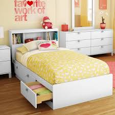 White Twin Storage Bed with 3 Drawers and Headboard - Spark | RC ...