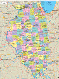 map of illinois counties with roads  all world maps