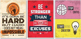 inspirational posters for office. Motivational Posters For Office And Study Room - Set Of 3 13x19 In Inspirational F