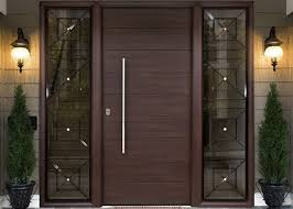 simple modern solid oak external front doors decorative panel design for home