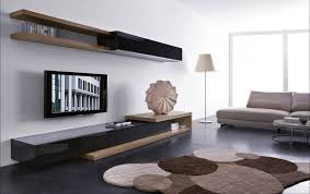 wall unit living room furniture. wonderful open space contemporary living room design ideas with wood wall shelving unit tv and low contrainer furniture set rounds shaped area rug brown