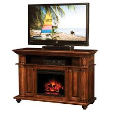 Simple Electric Fireplace Mantel  Med Art Home Design PostersAmish Electric Fireplace