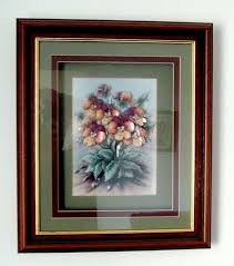 3 d bunch of flowers in wood and glass frame picture