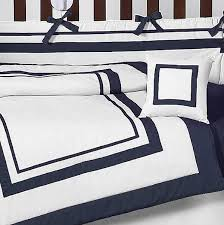 finest navy blue and white comforter sets hotel baby bedding set by sweet yn97
