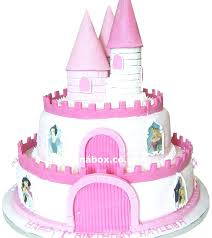 Wonderful Castle Birthday Cake For Girl Castle Shaped Birthday Cakes