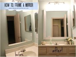 large bathroom mirror frame. Catchy Diy Bathroom Mirror Frame Ideas With Framing A Large R Socialmouthco