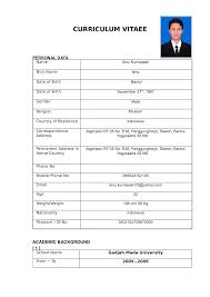 contoh cv template doc cv and resume contoh cv template doc housekeeper cv template dayjob contoh curriculum vitae cv samples format lamaran kerja