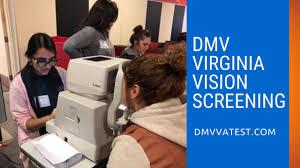 dmv virginia vision screening