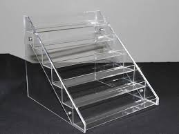 Acrylic Tiered Display Stands KnockDown Acrylic Nail Polish Display 100 Bottles KnockDown 7