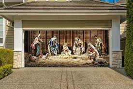 nativity scene banners for 2 car garage door covers outdoor 3d effect full color house