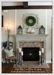 Great French Country Fireplace Design With White Painted Wooden French Country Fireplace
