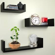 Wall Mount Bookcase Amazoncom Greenco Set Of 3 Floating U Shelves Espresso Finish