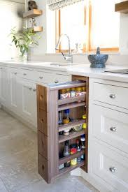 Make a pull-out spice rack, saves a lot of cabinet space.