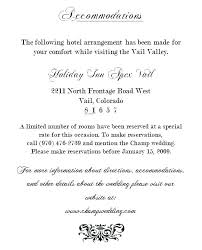 Wedding Invitations Hotel Accommodation Cards Amair Co