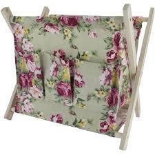 large folding wooden craft basket assorted