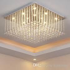 chandelier led lights crystal modern simple creative elegant rectangle shape chandeliers pendant ceiling lighting fixture chandeliers lamp long chandelier