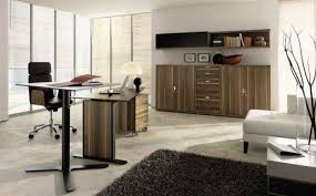 modern office design ideas in the white wall color scheme featuring exiting walnut wooden interior furniture best wall color for office