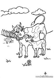 Small Picture Cow with calf coloring pages Hellokidscom