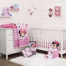 girls bedroom disney minnie mouse loves dots pc crib bedding set and keepsake bedroom storage box