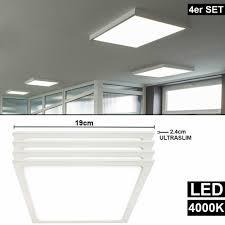 4x Aufbau Slim Ultra Lampen Alu Panel Raster Zimmer Arbeits
