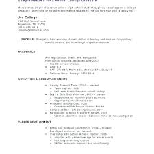 Sample Resumes For College Students – Noxdefense.com