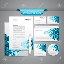 Business Envelope Template Complete Set Of Business Stationery Template Such As Letterhead 21