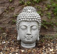 stone garden buddha head statue 40cm x 30cm