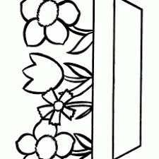 Awesome Easy Flower Coloring Pages Simple For Kids Printable Coloring