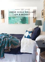 see how easy and inexpensive it is to make this diy large scale wall art using on large inexpensive wall art diy with diy large scale wall art mountain modern life