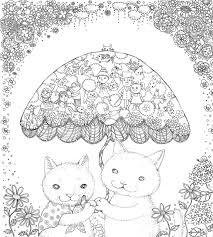 ぬり絵book ネコと仲間たちの不思議な世界 塗り絵 ぬり絵ぬりえ
