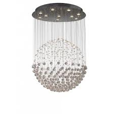 exc2350 excelsior 10 light crystal ceiling pendant polished chrome