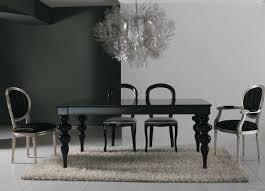 Legno Bianco Nero : Tavolo legno allungabile cucina salotto barocco classico nero