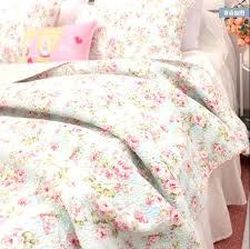 cotton quilt queen shabby chic cottage double fl blue coverlet bedspread set bedding quilts coverlets doub