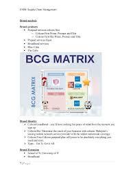 Bcg Matrix Of Celcom Term Paper Sample December 2019